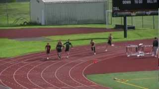 Mountlake Terrace Hawks 4x100 relay team 2012 Race 1 vs Shorewood T...
