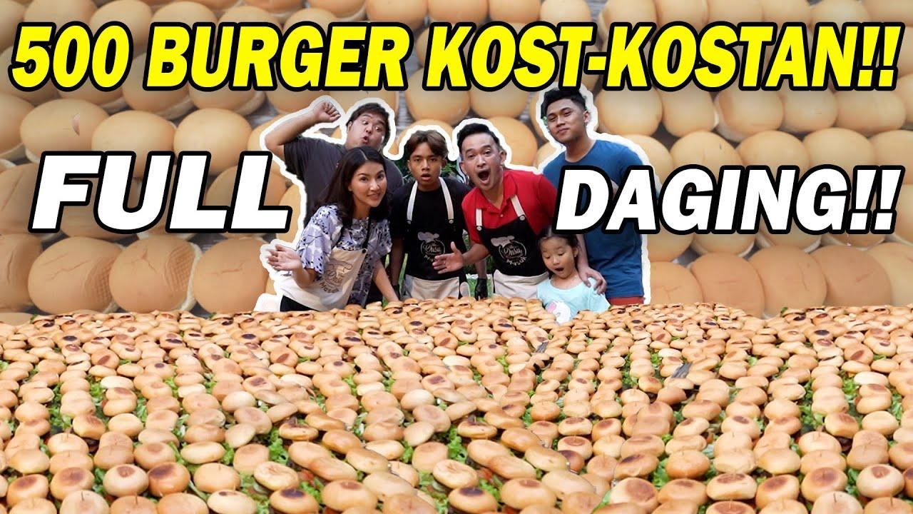 The Onsu Masak - Bikin Lautan Pakai 500 Burger?! Mending Beli aja!!