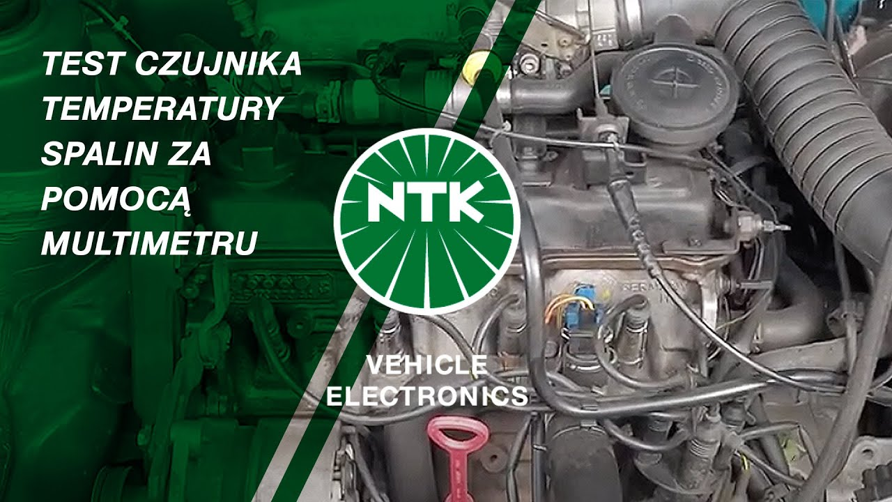 Test czujnika temperatury spalin za pomocą multimetru