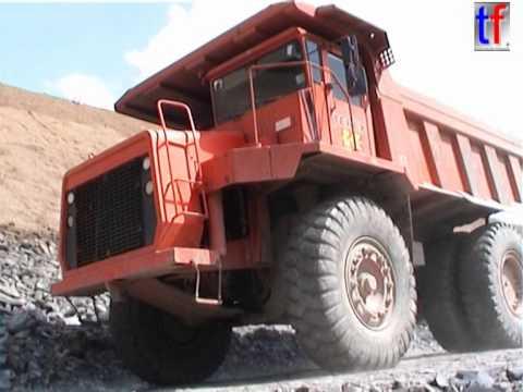 **DIESEL SOUND** Terex 33-07 Off-Highway Dump Trucks, Fa. KOHL, Germany, 2004.