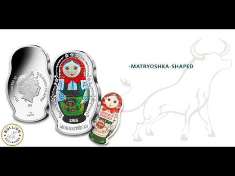 2016 1 oz Solomon Islands Proof Russian Matryoshka Doll $5 Silver Coin