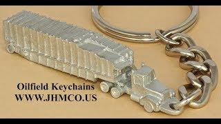 Oilfield Frac Tank Hauler Keychain JHM#221 Promotional Gifts