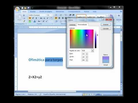 Curso Word 2007 para torpes: Lección 6 - Cambiar color de letra y el ...