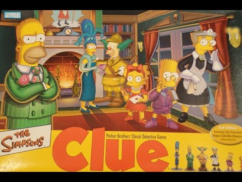 What&39;s Inside - The Simpsons Clue Board Game Parker Brothers