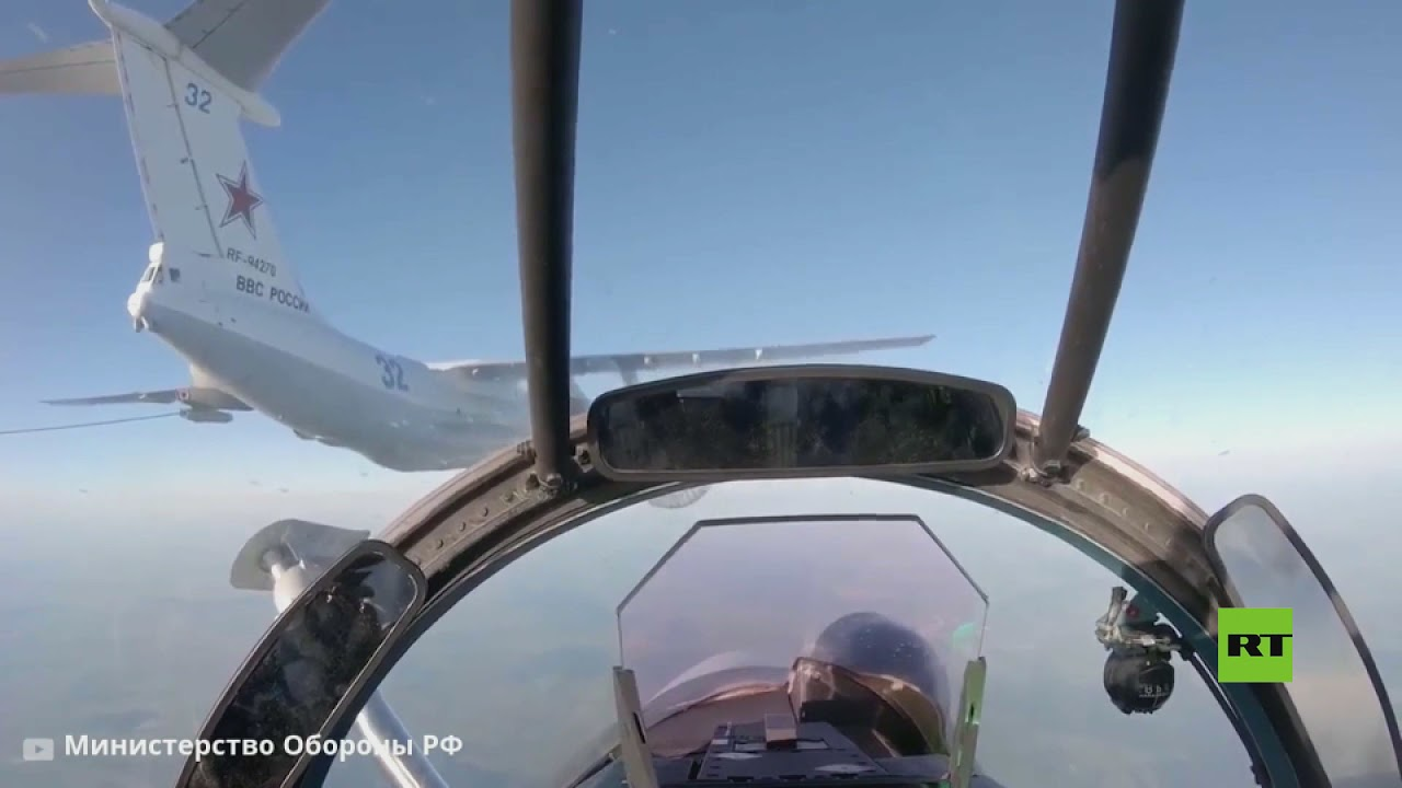 فيديو.. تزويد مقاتلات سو-24 و سو-30 بالوقود في الجو  - نشر قبل 2 ساعة