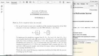 setting up a regression simulation