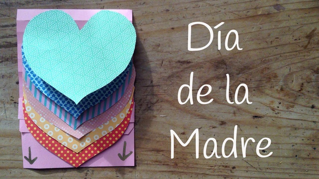 Tarjeta Para El Día De La Madre De Corazones Regalos Hechos A Mano