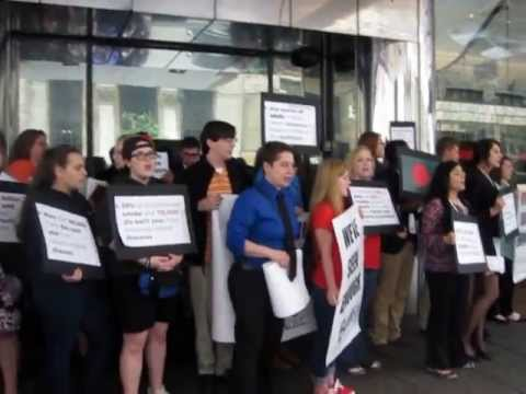 Tobacco Control Teen Advocates at the Philip Morris International Shareholder's Meeting