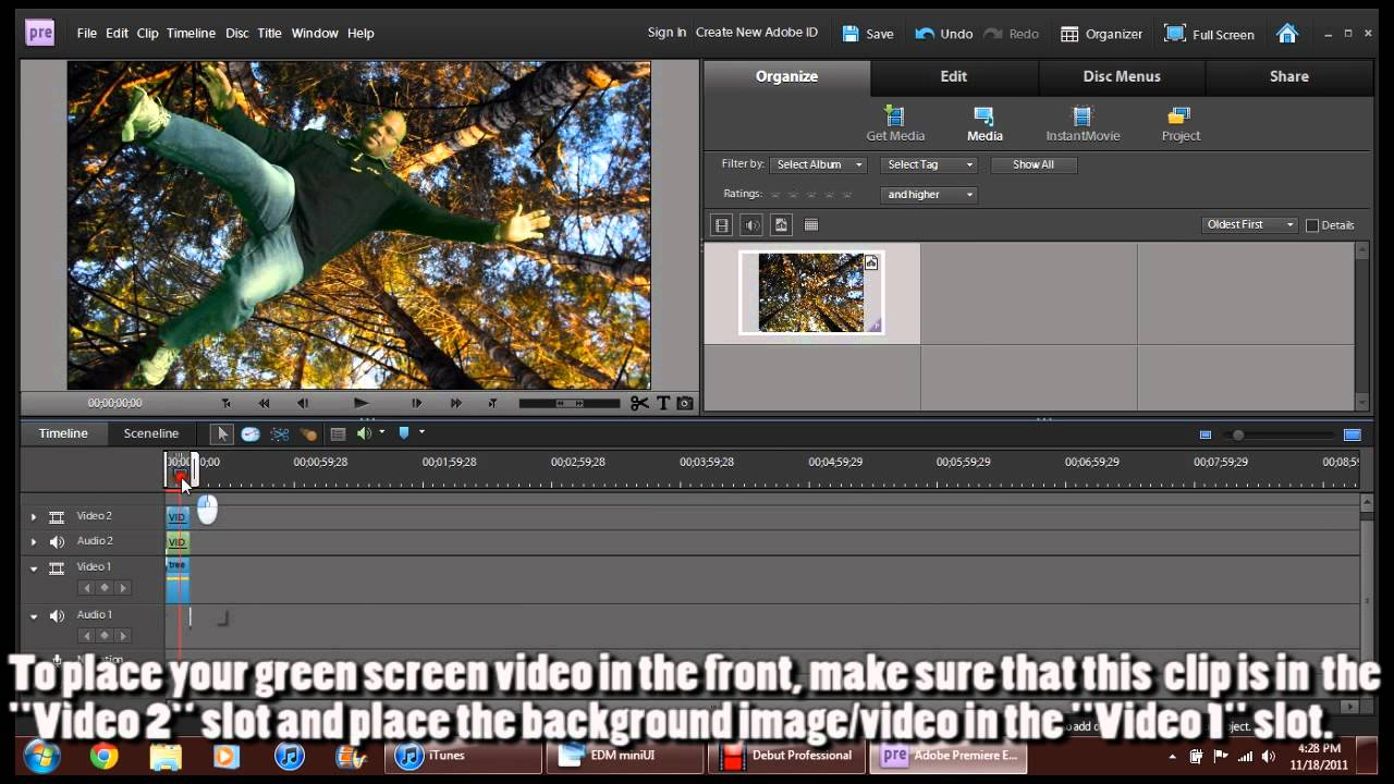 How to use Chroma Key in Adobe Premiere Elements 9 - YouTube