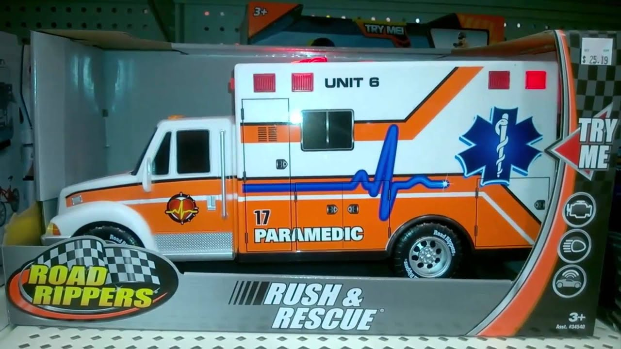ROAD RIPPERS RUSH RESCUE PARAMEDIC LIGHTS SOUNDS TOY AMBULANCE