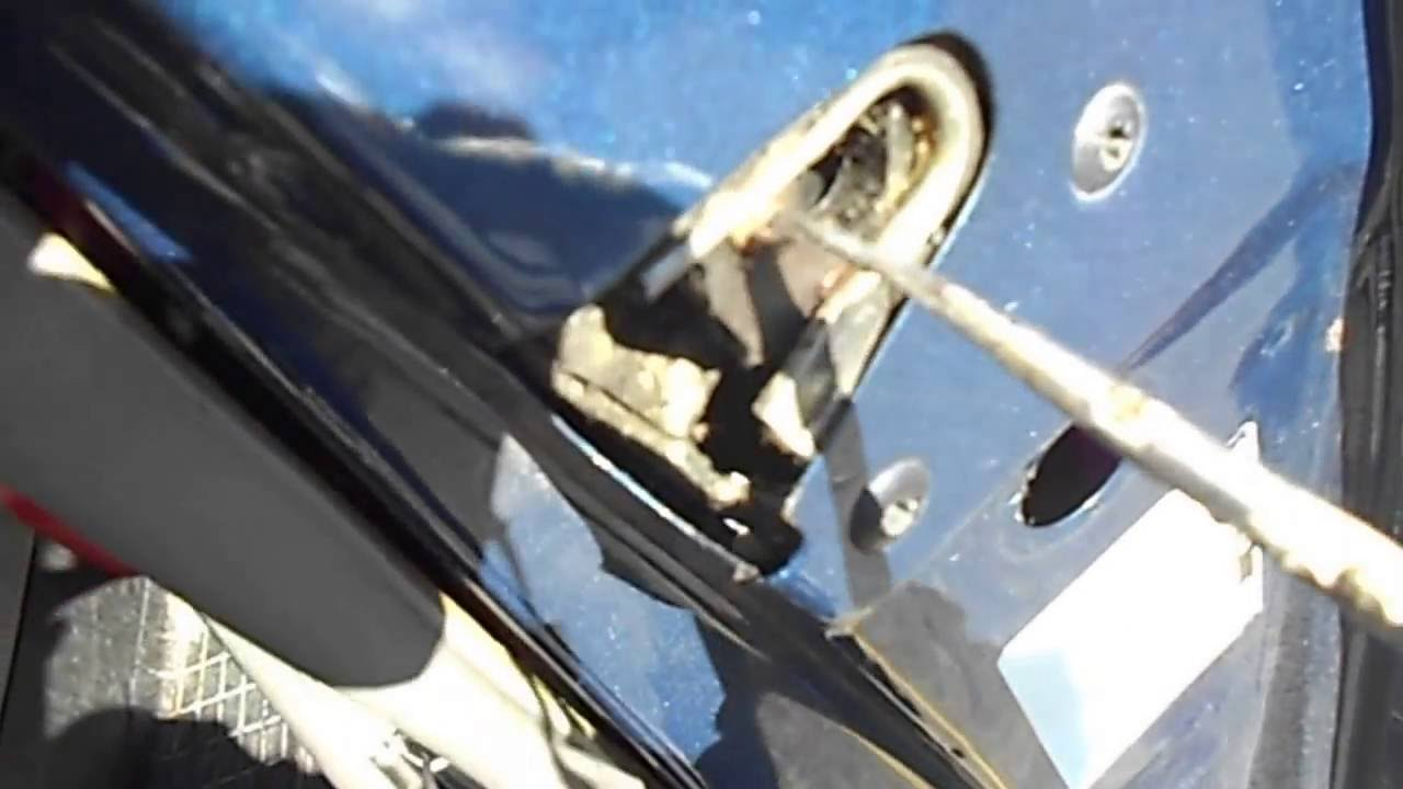 Car door latch stuck open
