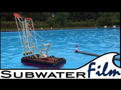 Der schwimmende Schwerlast-KRAN / the heavylift-floating CRANE - Aukrug 2014