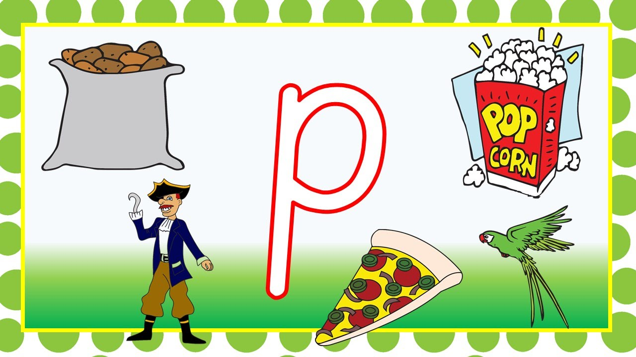 Learning The Letter P- Beginning Sounds And Blending