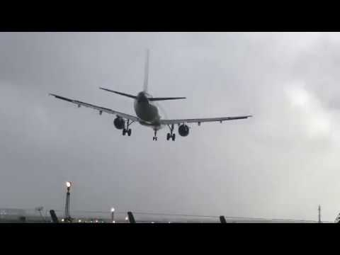 Dramatic Landing At Dublin Airport During Ophelia