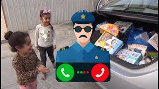 شرطة الاطفال | تقديم الهدايا للاطفال - kids police give gift to chilren