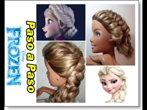 2 Peinados Elsa Frozen Paso A Paso Con Barbie Youtube