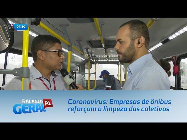 Coronavírus: Empresas de ônibus reforçam a limpeza dos coletivos