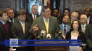 Press conference of S.C. House leaders, members pressing the Senate to take action on nuclear bills