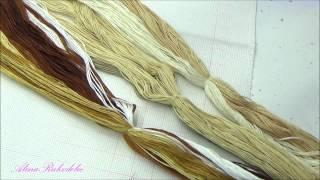 Мир вышивки/ Подготовка к вышивке моего набора/ Первые крестики- часть2