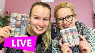DIY Inspiration LIVE | Fast 50 neue Washi Tape Rollen | Unboxing & Demo mit Eva & Kathi