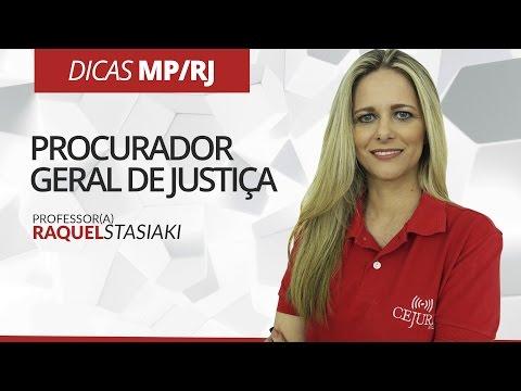 DICA MP/RJ: Procurador Geral de Justiça - Professora Raquel Stasiaki