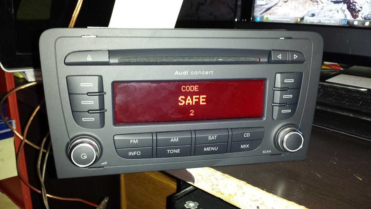 Vw Radio Code >> How unlock AUDI chorus,concert,gamma symphony.RADIO SAFE Mode unlock code PIN decode - YouTube