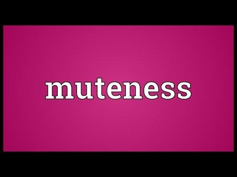 Muteness Meaning