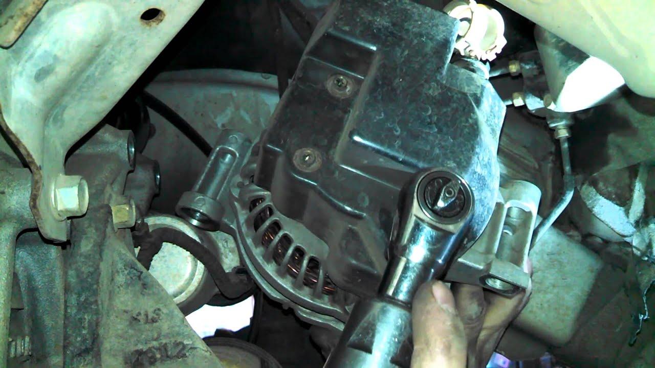 Alternator replacement 2003 Mazda 6 23L Install Remove