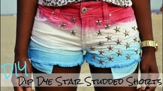Diy Dip Dye Star Studded Shorts