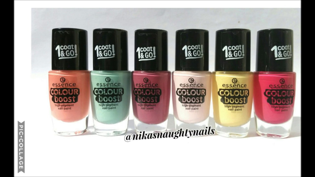 essence cosmetics colour boost 1 coat & go nail polish review - YouTube