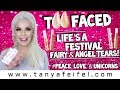 Too Faced Life's A Festival | Fairy & Angel Tears Lip Swatches & Review #LOVE | Tanya Feifel