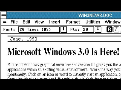 Microsoft Windows 3.0 · 1990 Demonstration