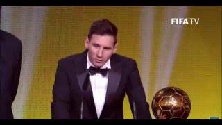 Messi Fifa Ballon D'or 2016 Speech