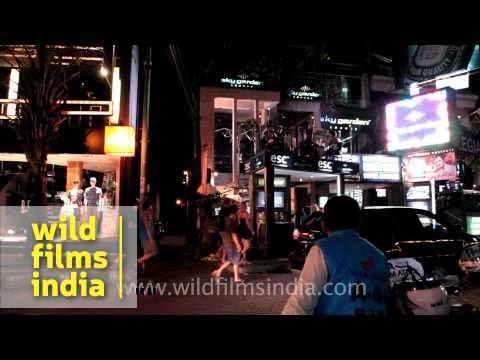 Night life in Bali Kuta, Indonesia