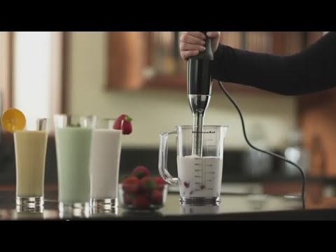 KitchenAid Artisan Deluxe Hand Blender - YouTube on proctor silex hand blender, tefal hand blender, quick-prep hand blender, 18 inch hand blender, black and decker hand blender, williams sonoma hand blender, ge hand blender, hamilton beach hand blender, american made hand blender, tupperware hand blender, krups hand blender, shredding a hand blender, morphy richards hand blender, breville hand blender,