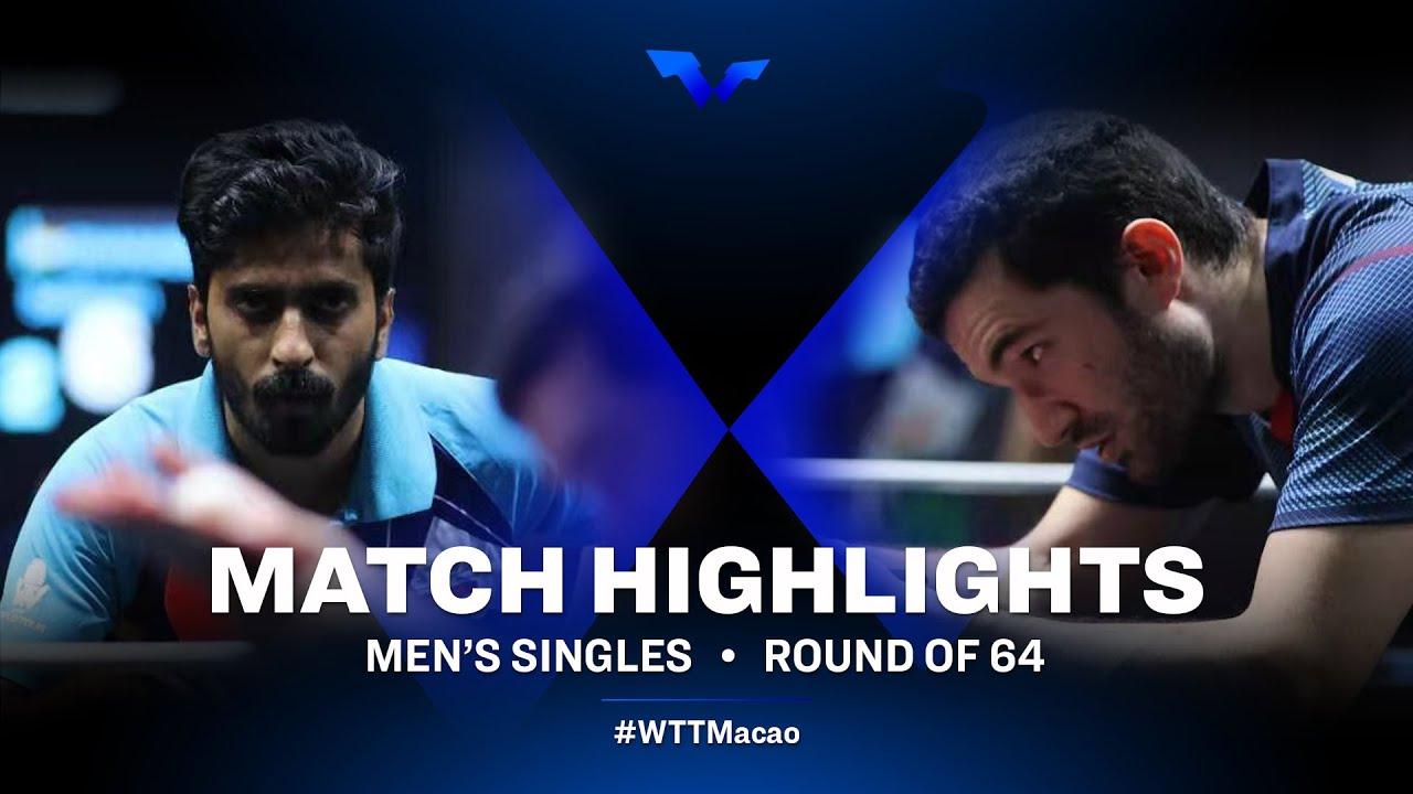 Download Sathiyan Gnanasekaran vs Emmanuel Lebesson | WTT Star Contender Doha 2021 | MS | R64 Highlights