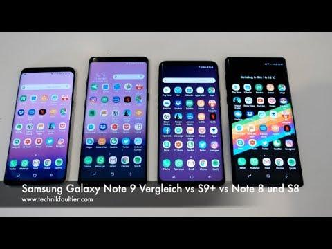 Samsung Galaxy Note 9 Vergleich Vs S9 Vs Note 8 Und S8 Youtube