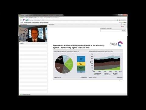 Understanding the Energiewende – Webinar-Recording Agora Energiewende