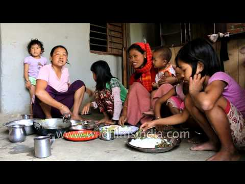 Family feast on occasion of Sajibu Cheiraoba: Imphal