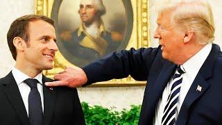 Trump Always Gets Extra Weird Around Macron (VIDEO)