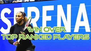 Serena Williams All 17 Wins Over World Number One Players   SERENA WILLIAMS FANS