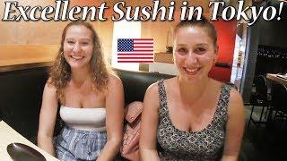 アメリカ人女子大生が渋谷で寿司を堪能!/Excellent Sushi in Tokyo!