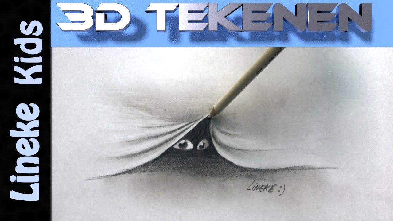 3d tekening hoe teken je een spookje in stappen voor for Tekenen 3d