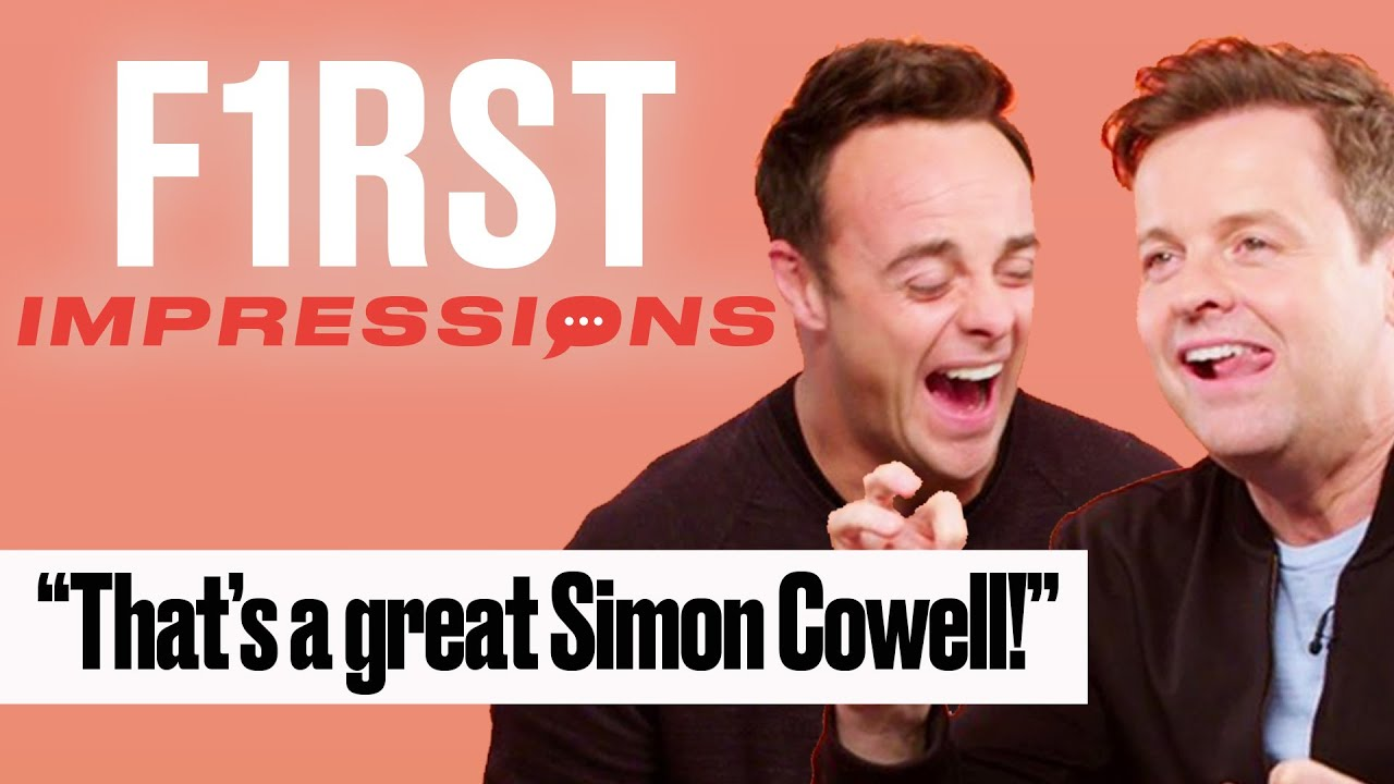 Ant And Dec Impersonate British TV Stars | First Impressions | LADbible | First Impressions