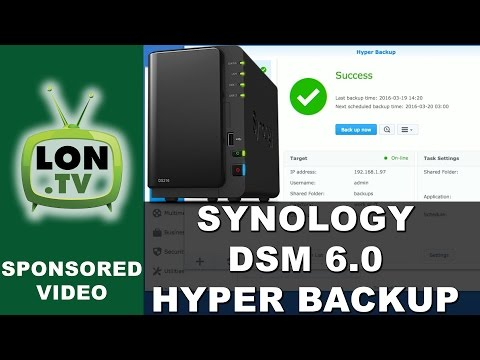 Synology DSM 6.0 - Hyper Backup  - How to Backup over the Internet Incrementally with Multi-versions