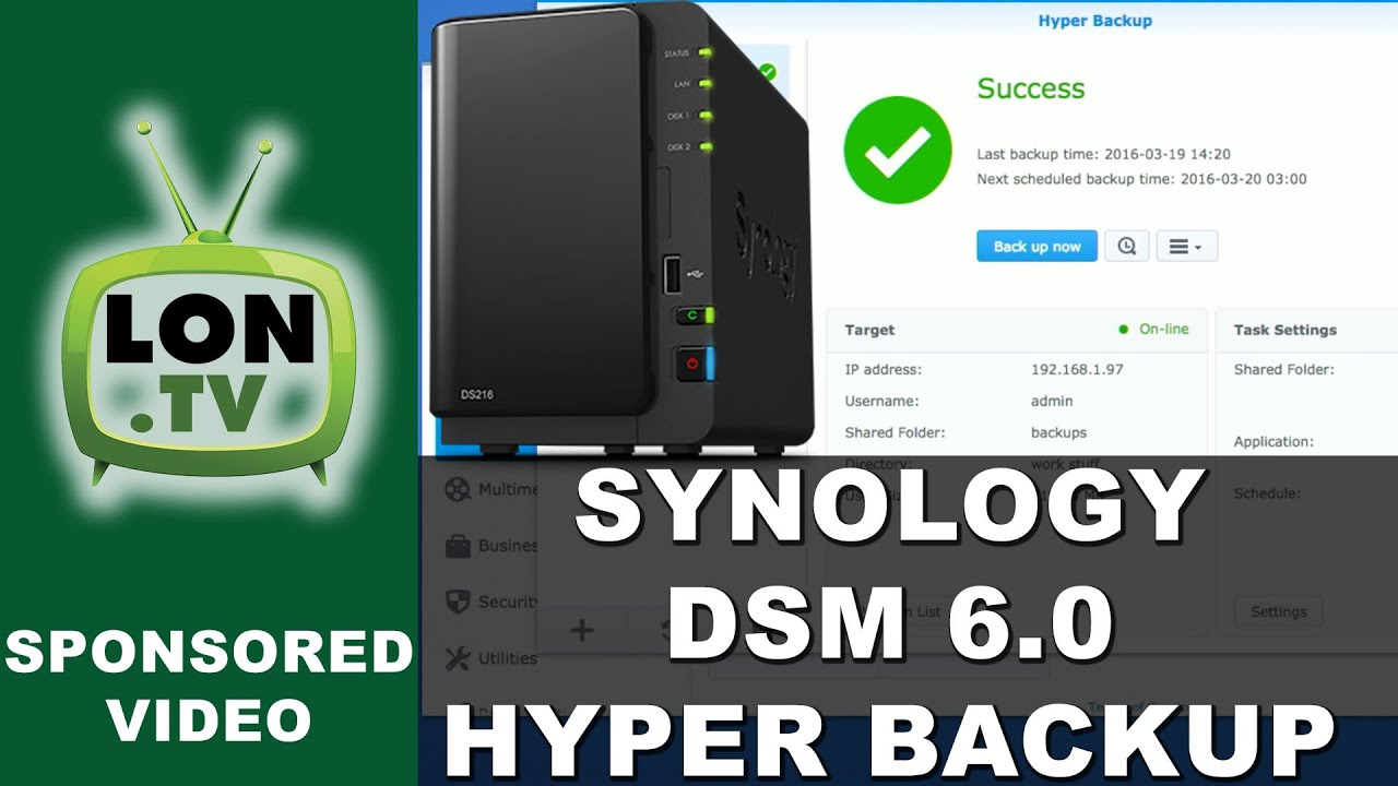 Synology DSM 6 0 - Hyper Backup - How to Backup over the Internet  Incrementally with Multi-versions