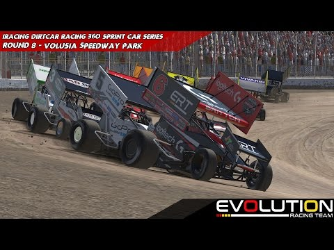 iRacing - DIRTcar - 360 Winged Sprints Week 8 @ Volusia Speedway Park