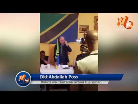 Balozi wa Tanzania Nchini Ujerumani Dkt Abdallah Possi Akutana na Watanzania Waishio Nchini Humo