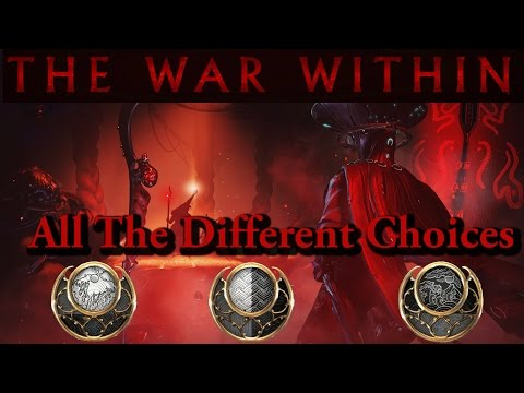 Warframe | The War Within Quest | All The Different Dialogue Choices (Sun/Neutral/Moon)