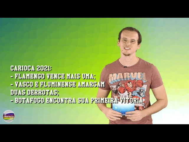 TVP ESPORTE - SEGUNDA RODADA DO CARIOCA 2021